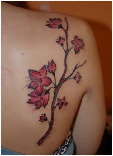 Flowers Trail Tattoo